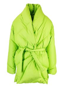 Khrisjoy - Robe Coat in lime green