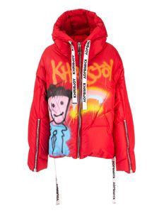 Khrisjoy - Khris Graffiti down jacket in red
