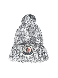 Moncler Jr - Melange beanie in gray