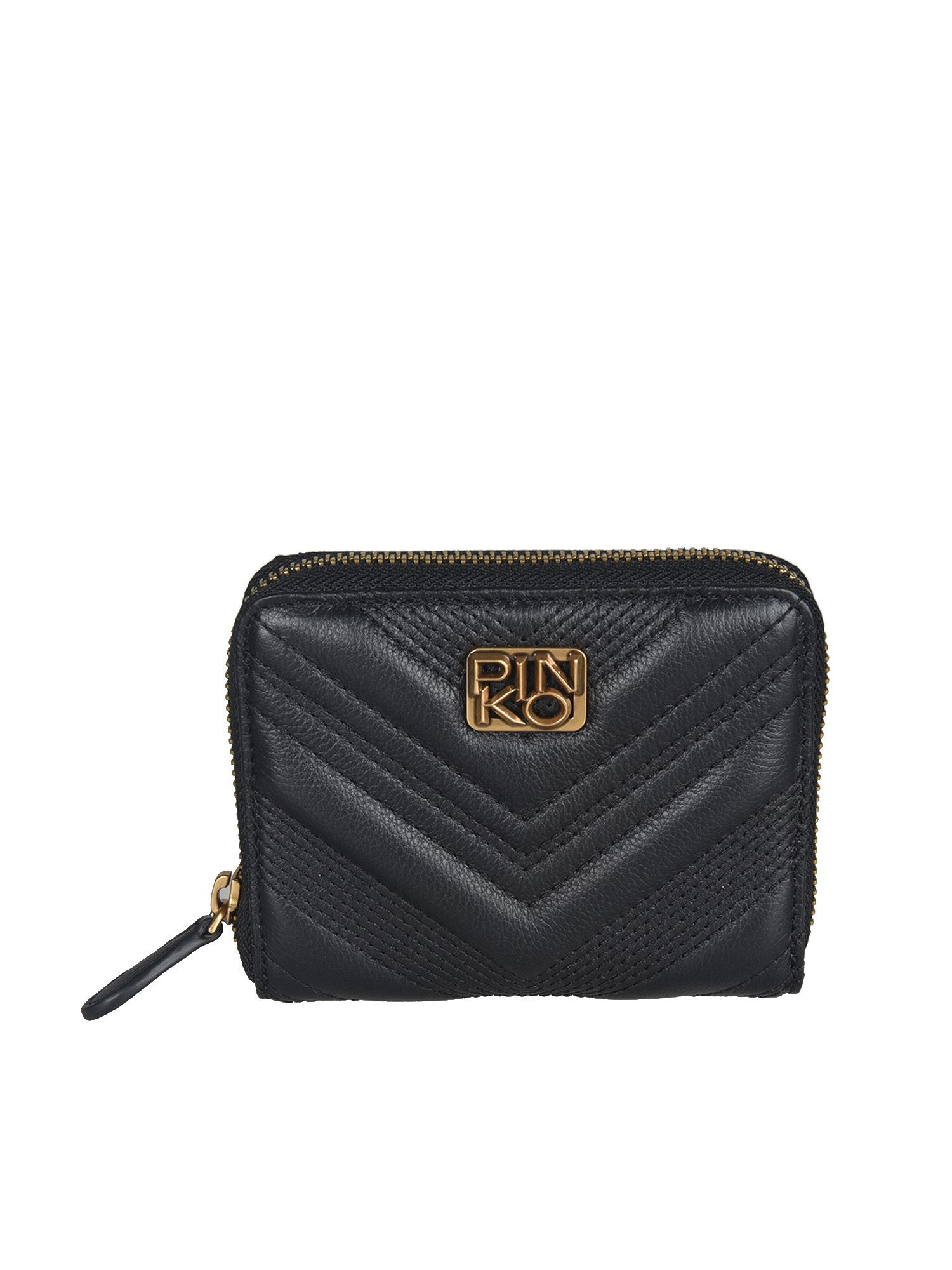 Pinko PINKO QUILTED WALLET IN BLACK