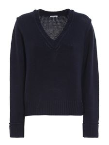 Parosh - Wool blend sweater in blue