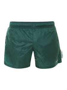 Off-White - Boxer da mare in nylon verde