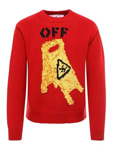 Off-White - Pullover Pascal Skeleton rosso