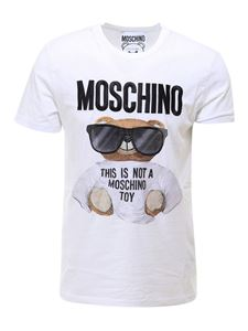 Moschino - T-shirt in cotone Teddy bianca