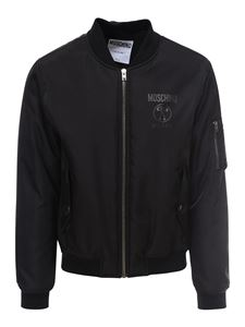 Moschino - Technical fabric bomber jacket in black