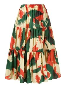 Kenzo - Coloured print maxi skirt in multicolor