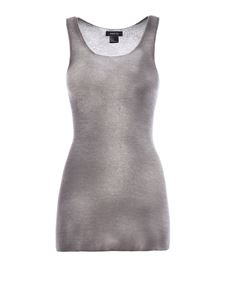 Avant Toi - Shaded cashmere and silk tank top in grey