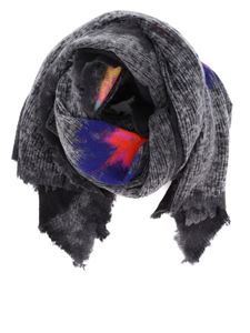 Avant Toi - Cashmere and wool blend scarf in grey