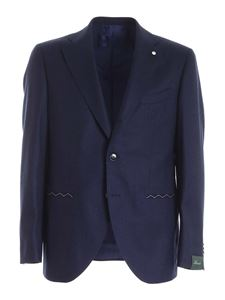 Brando - Mantua single-breasted suit in blue