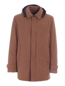 Herno - Hooded parka in brown