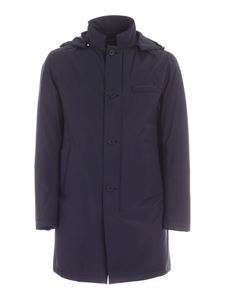 Herno - Hooded parka in blue