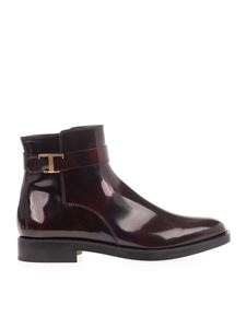 Tod's - Timeless ankle boots in burgundy