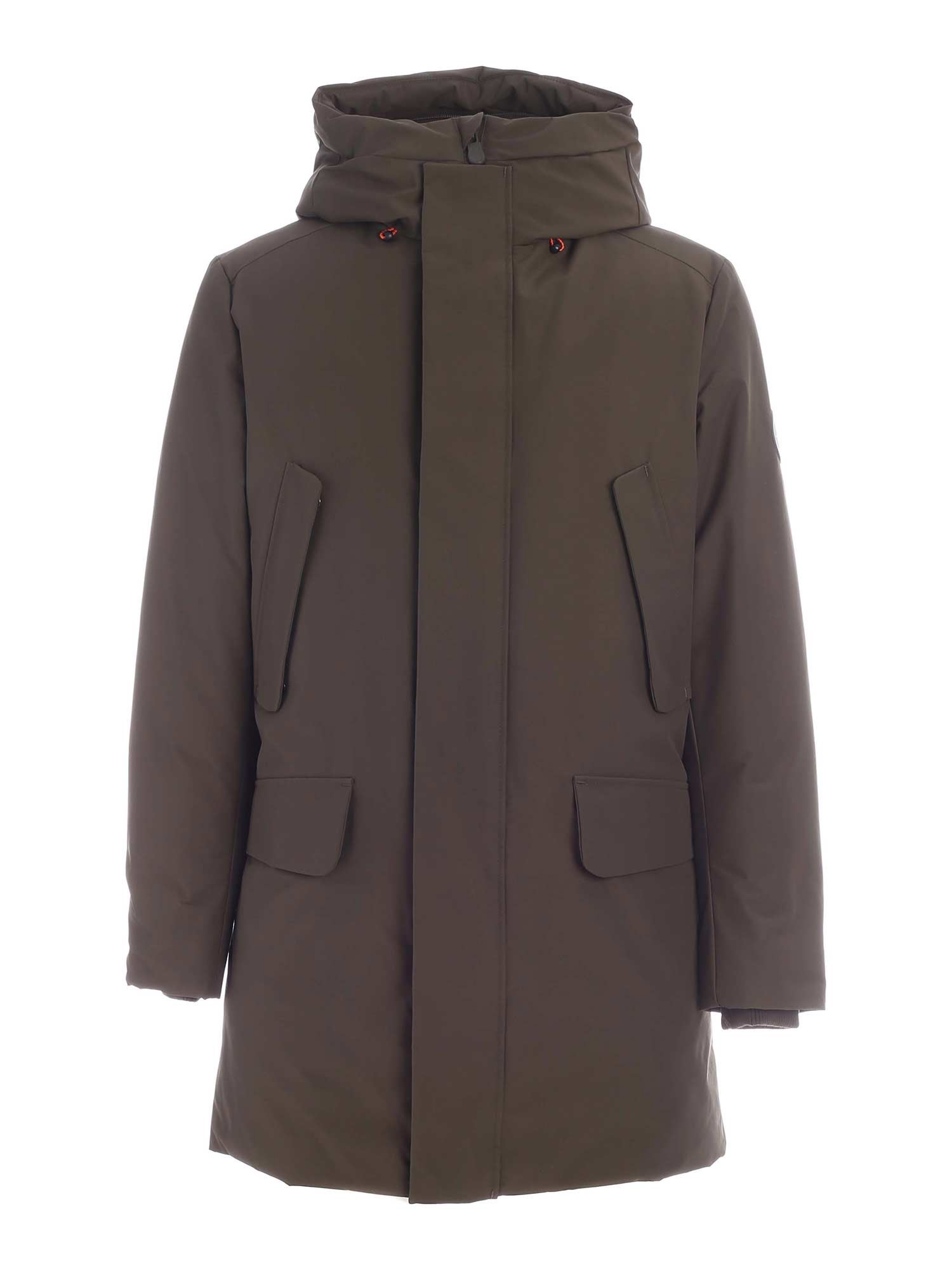 Save The Duck COPYY GREEN PARKA WITH HOOD