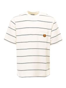 Kenzo - Cotton T-shirt with logo in white