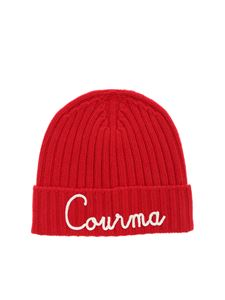 MC2 Saint Barth - Courma embroidery beanie in red
