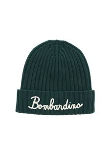 MC2 Saint Barth - Bombardino embroidery beanie in green