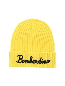 MC2 Saint Barth - Bombardino embroidery beanie in yellow