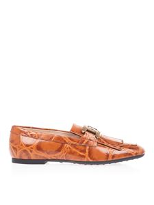 Tod's - Mocassini Kate croco frangia marroni