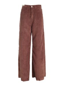 Re-HasH - Avril wide leg pants in brown