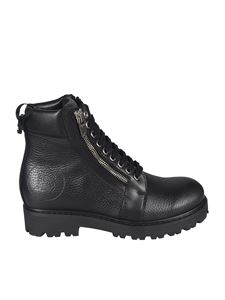 Balmain - Ankle boots with side zips in black