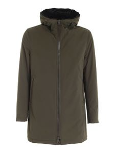 Herno - Green parka with synthetic fur lining