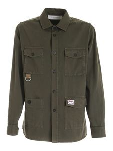 Golden Goose - Achille Boxy shirt in Army green