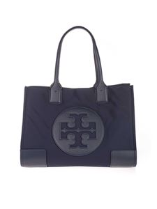 Tory Burch - Small Ella tote bag in navy blue
