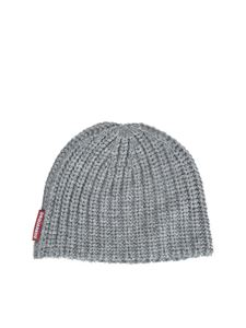 Dsquared2 - Ribbed beanie in grey