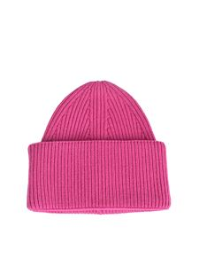 Laneus - Cashmere beanie in ciclamin color