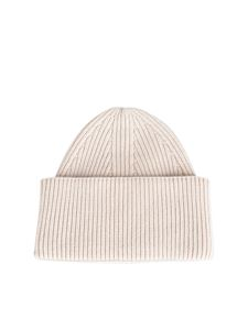 Laneus - Cashmere beanie in ecru color