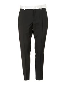 Valentino - White side bands pants in black