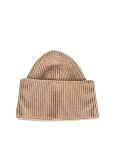 Laneus - Cashmere beanie in camel color