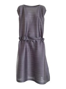 PLEATS PLEASE Issey Miyake - Stone Gradation pleated dress in grey