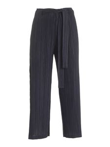 PLEATS PLEASE Issey Miyake - Thicker Bottoms 1 crop pants in black