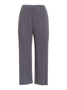 PLEATS PLEASE Issey Miyake - Stone Gradation crop pants in grey