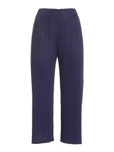 PLEATS PLEASE Issey Miyake - Com Moto crop pants in blue