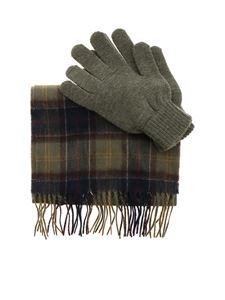 Barbour - Scarf and gloves set in shades of green