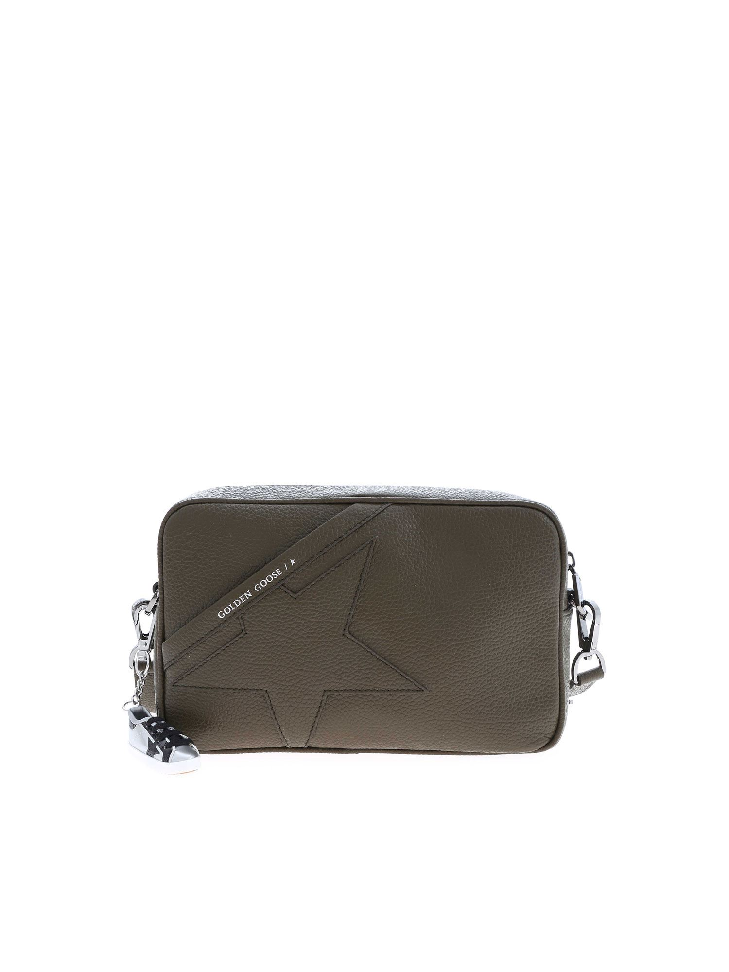 Golden Goose STAR SHOULDER BAG IN ARMY GREEN