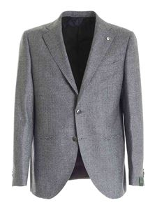 Brando - Single-breasted suit in melange grey