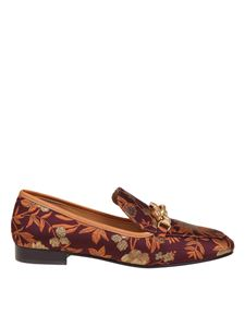 Tory Burch - Jessa moccasin with burgundy pattern