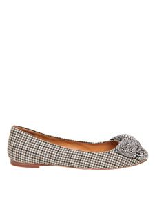 Tory Burch - Tweed ballet flats with bow in beige