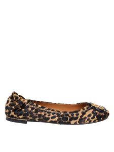 Tory Burch - Logo ballet flats in animalier calf hair