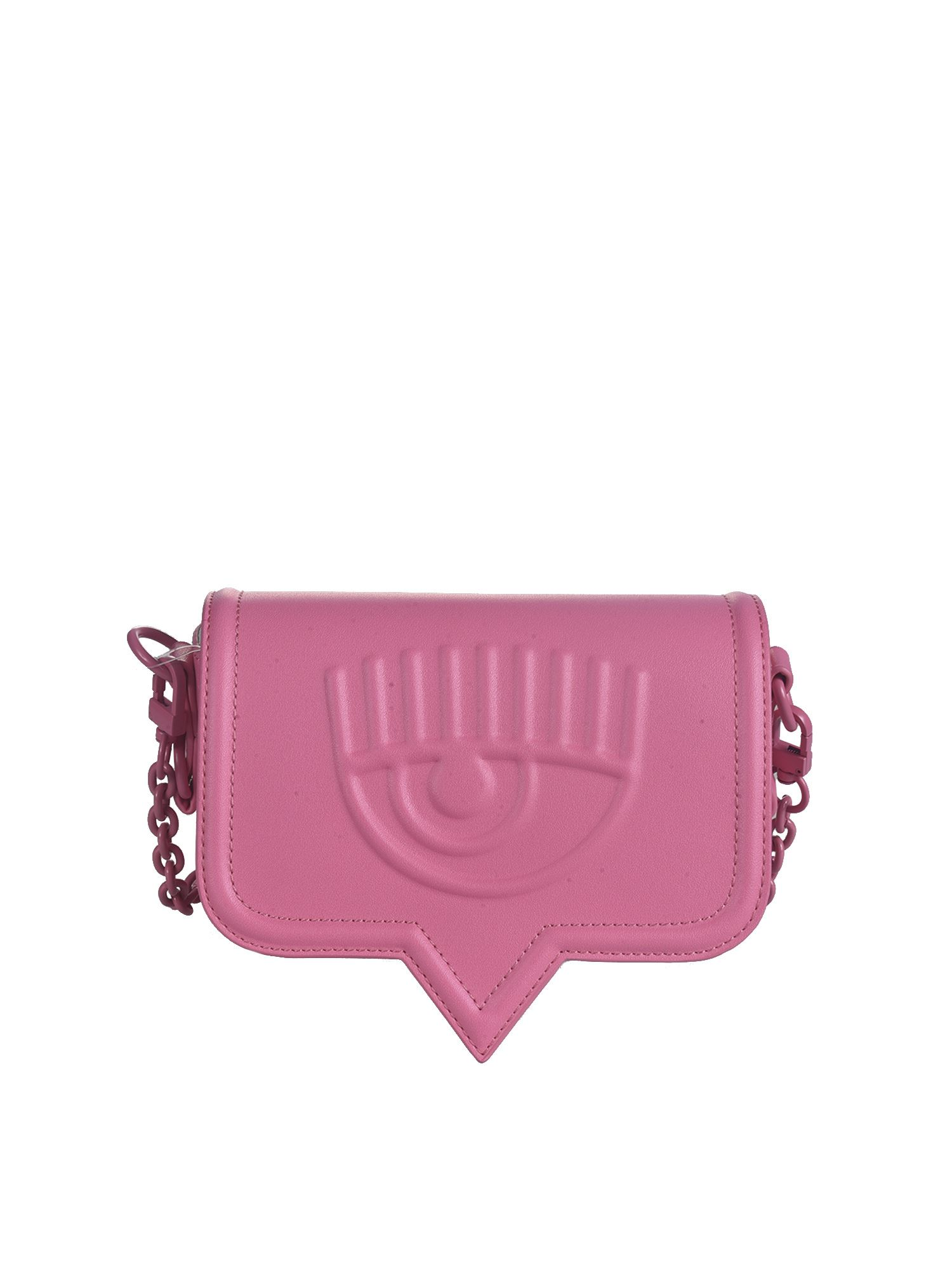 Chiara Ferragni EYELIKE SMALL SHOULDER BAG IN PINK