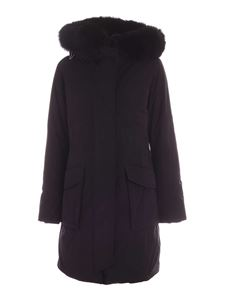 Woolrich - Military black parka with fur