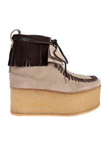 Palm Angels - Stivaletti Wallabee Clarks beige