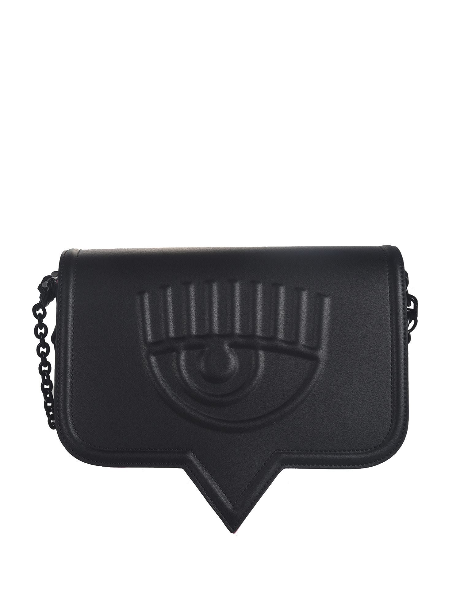 Chiara Ferragni EYELIKE BIG SHOULDER BAG IN BLACK