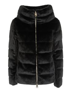 Herno - Black padded eco fur