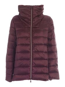 Save the duck - Quilted puffer jacket in burgundy color