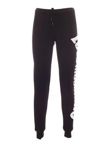 Love Moschino - Lettering logo joggers in black