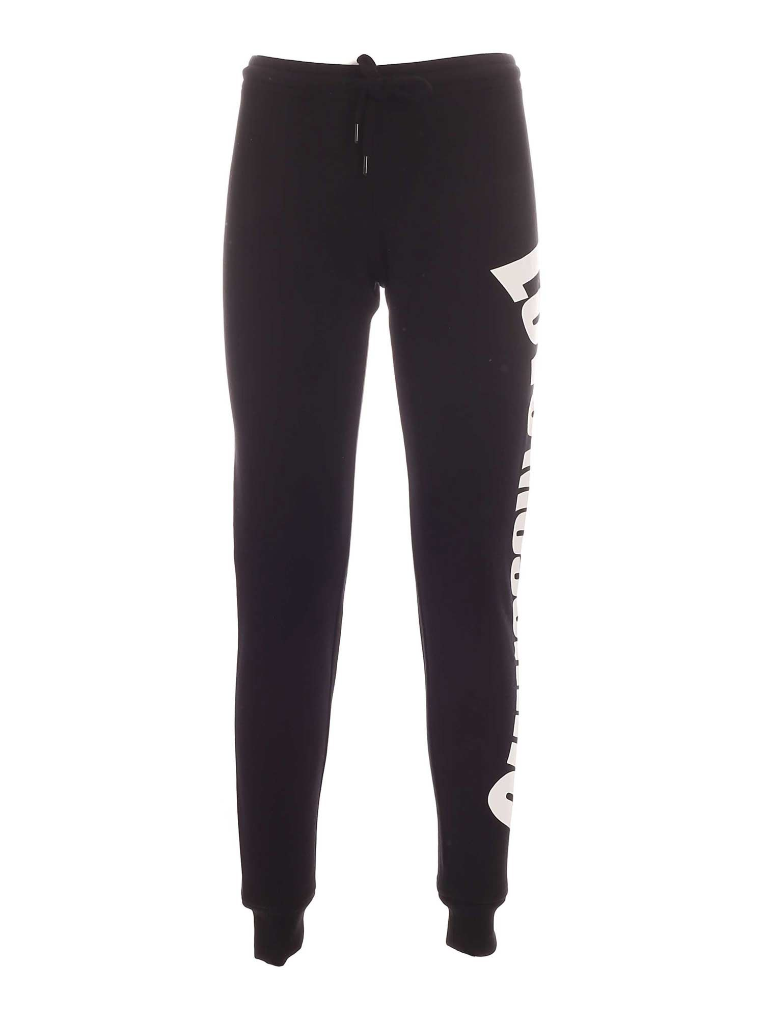 Love Moschino LETTERING LOGO JOGGERS IN BLACK